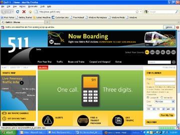 511 Traveler Information Web Site