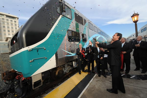 From: Metrolink debuts new rail cars as part of Whistlestop tour