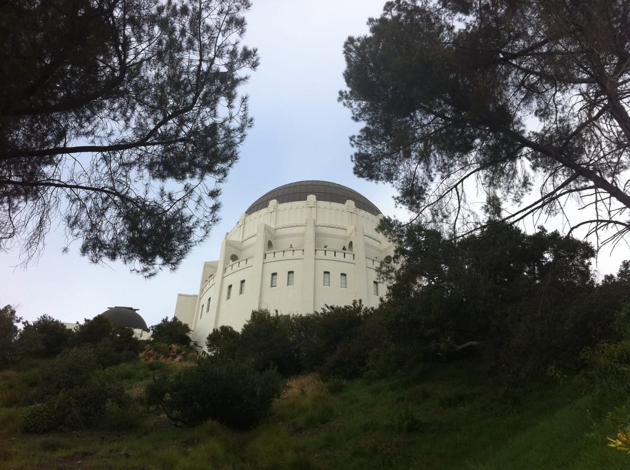 The Griffith Park Observatory seen from the trail.