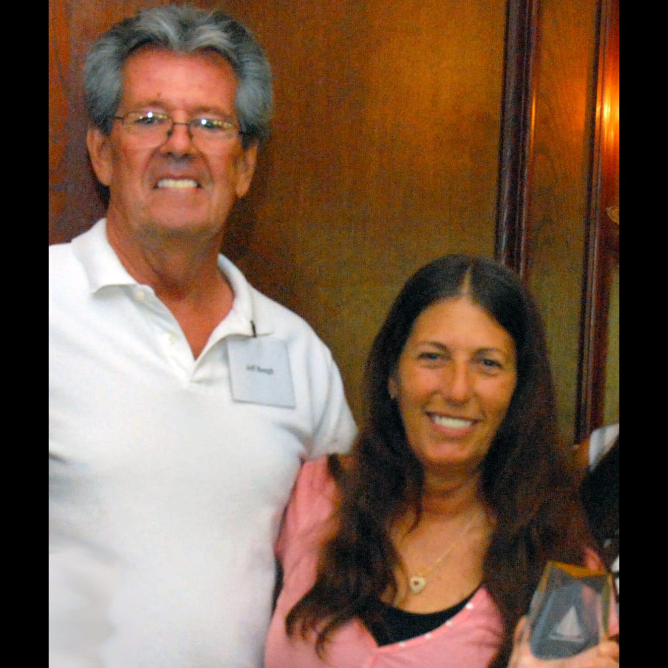 2010 winner Jeff Baugh and Rhonda Kramer.