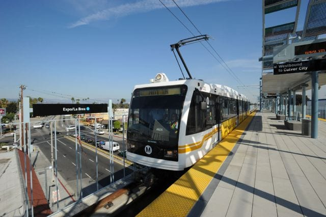 Expo Line at La Brea Station/Metro photo