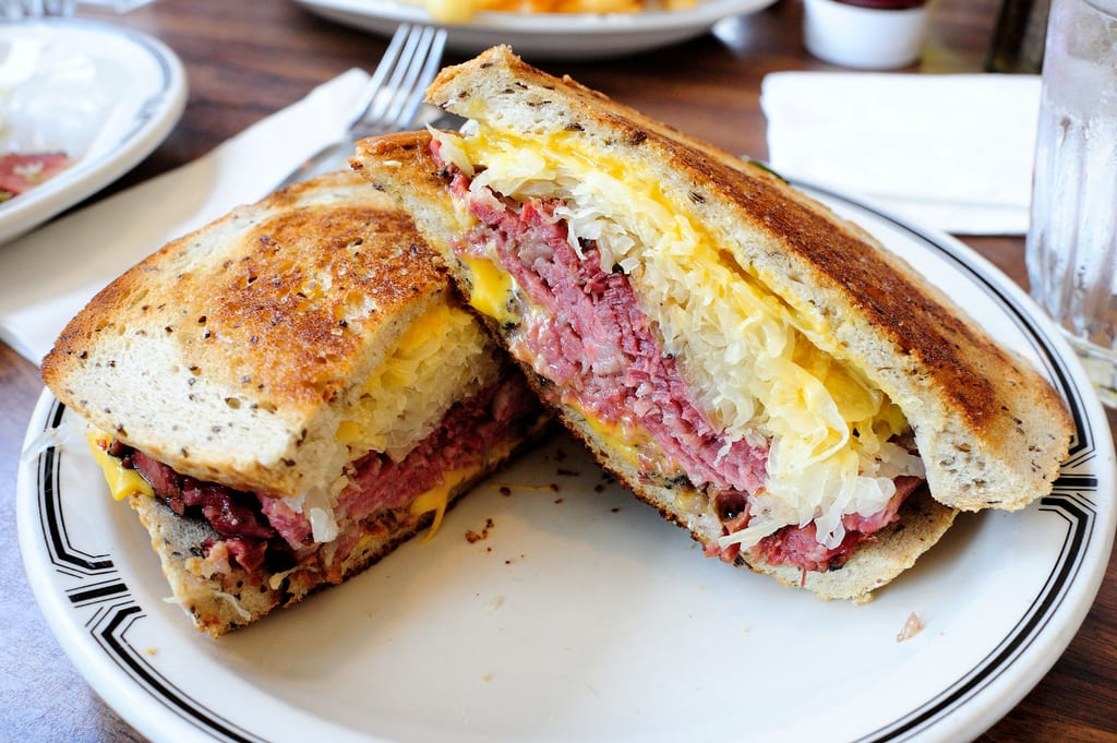 A Ruben pastrami. Photo by Michael Saechang, via Flickr creative commons.