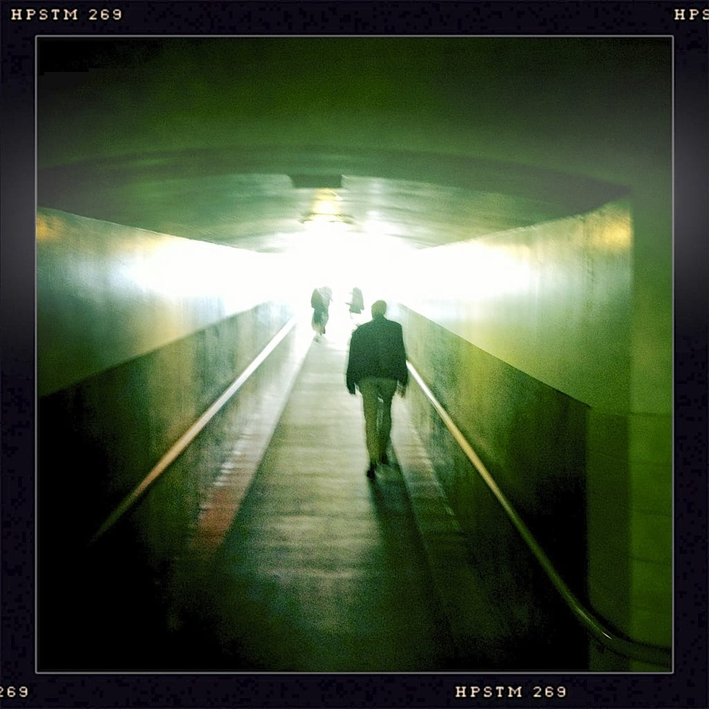 ART OF TRANSIT: A walkway to the platforms at Union Station. Photo by Jeffrey Bell, via Flickr creative commons.