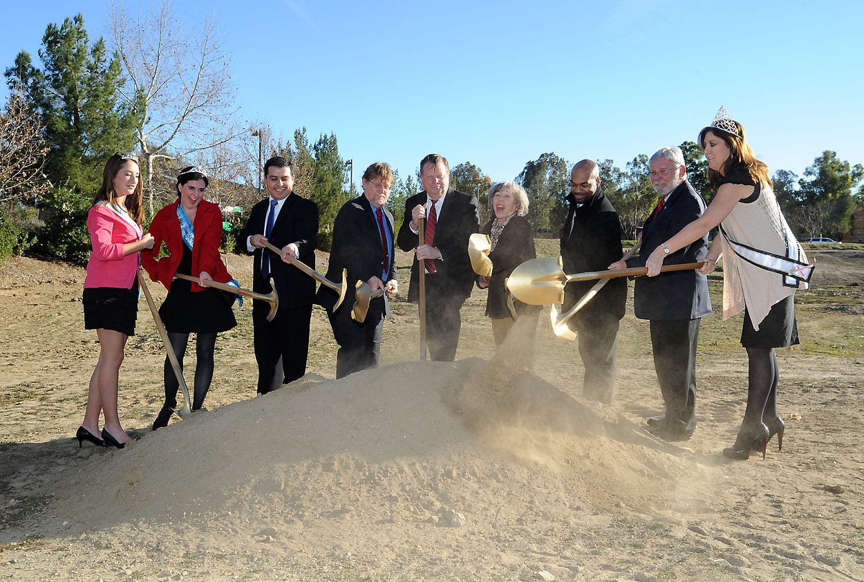 Local officials break ground on the new McBean Parkway Transit Center expansion today in Santa Clarita. Photo by Juan Ocampo/Metro.