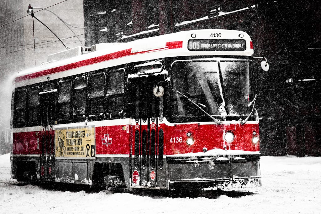 ART OF TRANSIT: Nice photo of a streetcar taken in Toronto last week. Photo by Chung Ho Leung, via Flickr creative commons.