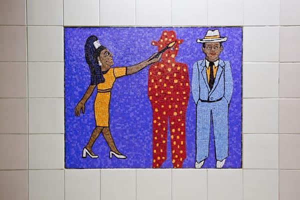 Artwork by Faith Ringgold at Civic Center Station