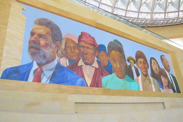 The refreshed mural, one day following maintenance.