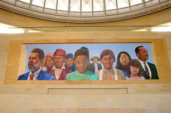 Mural by Richard Wyatt at Union Station's East Portal.