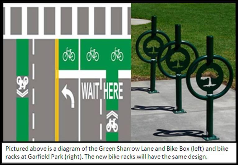 Pic Green Sharrow Lane-Bike Rack