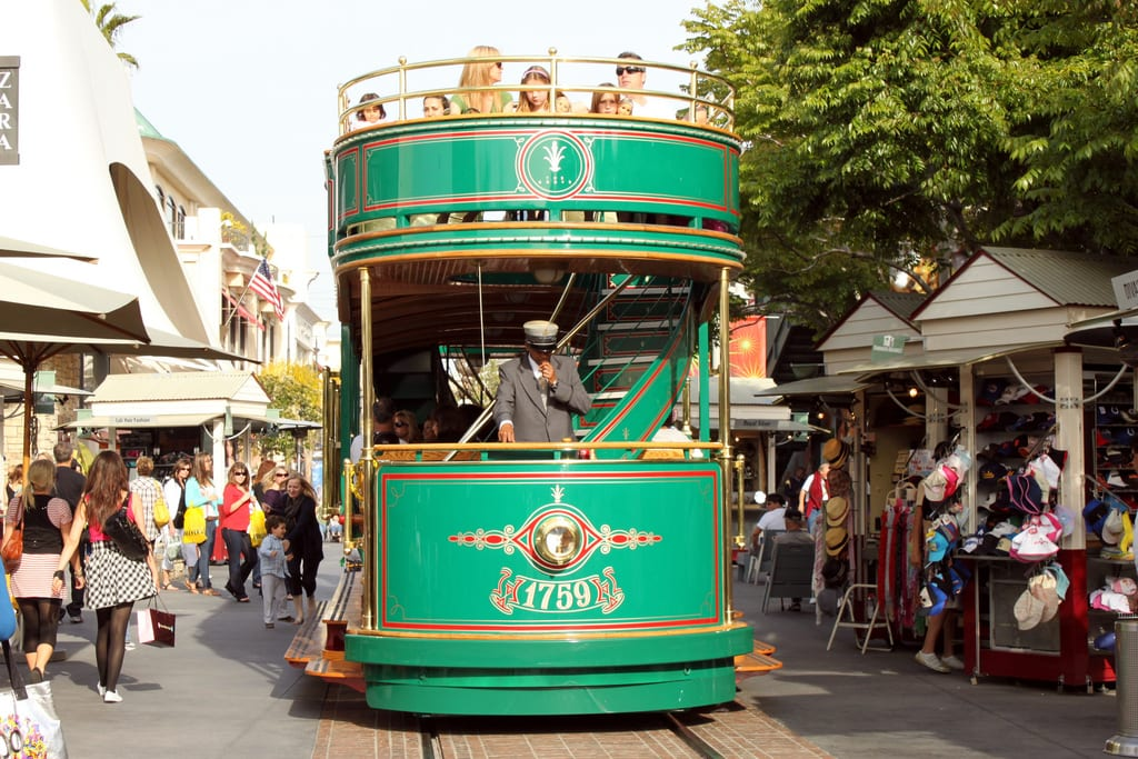 The trolley at the Grove. Photo by Prayitno, via Flickr creative commons.