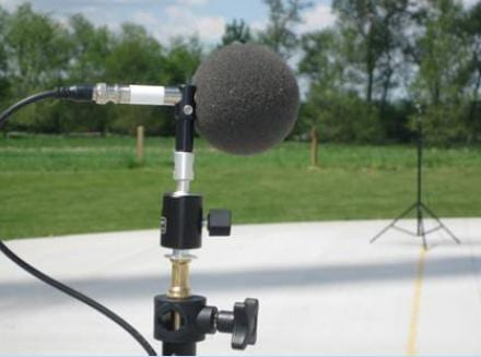 Sound monitoring microphone.
