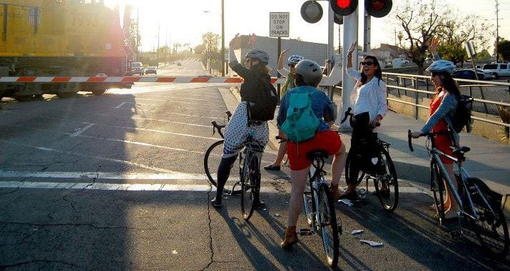 Bike trains are an easy way to get to work -- or to the nearest Metro station. Photo courtesy of LA Bike Trains.