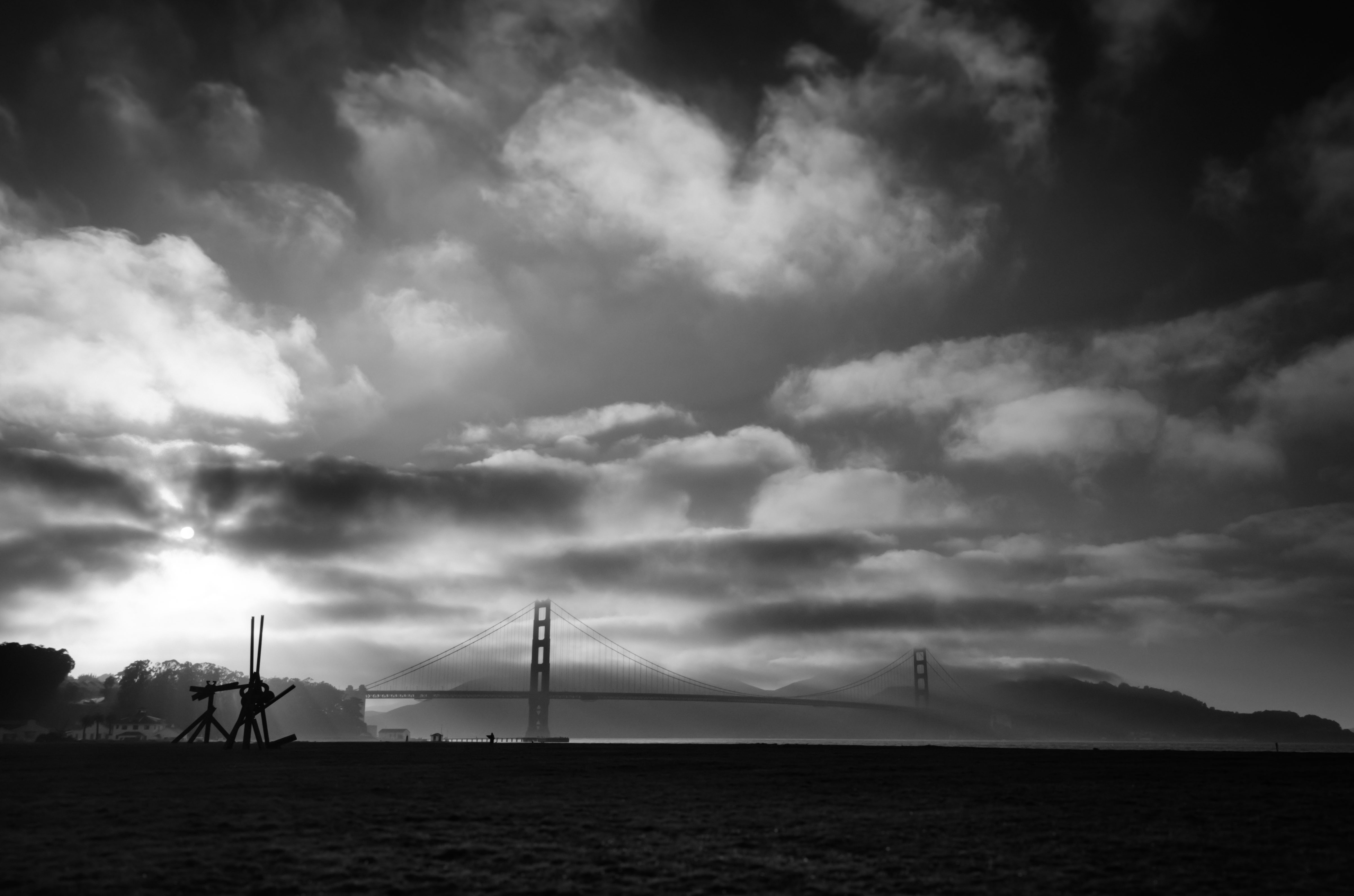 ART OF TRANSIT: Golden Gate Bridge, taken earlier this month on my way back from Oregon. If  you want to see real black and white photography from a master check out the ongoing Alan Ross exhibit at the G2 Gallery in Venice, http://www.theg2gallery.com/. It's at Abbot Kinney & Milwood, two blocks north of the Metro 33 & 733 stop at Venice & Abbot Kinney and one block south of the Big Blue Bus stop at Abbot Kinney & Walgrove. Photo by Steve Hymon.
