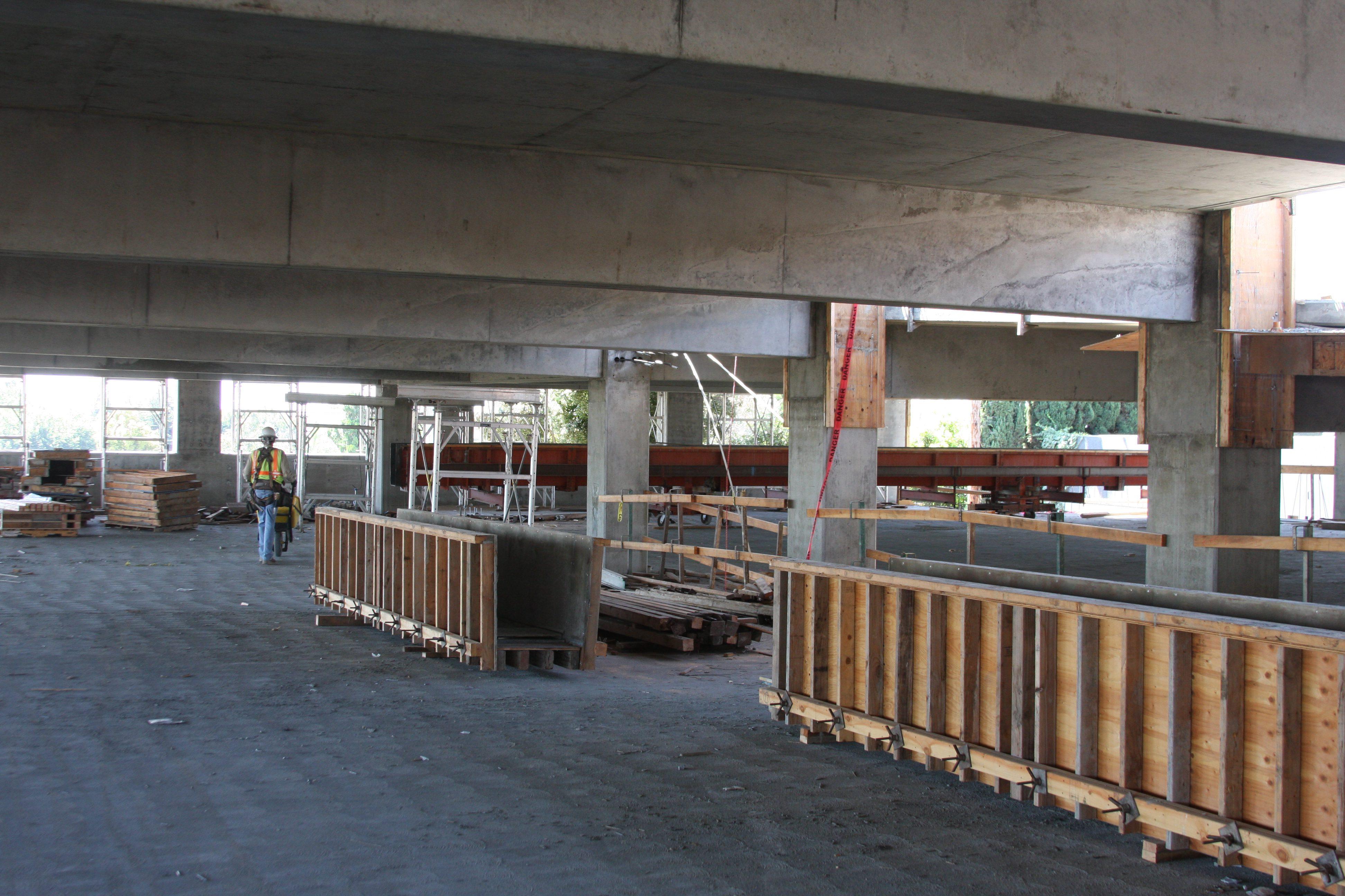 The parking garage at the Sepulveda station.