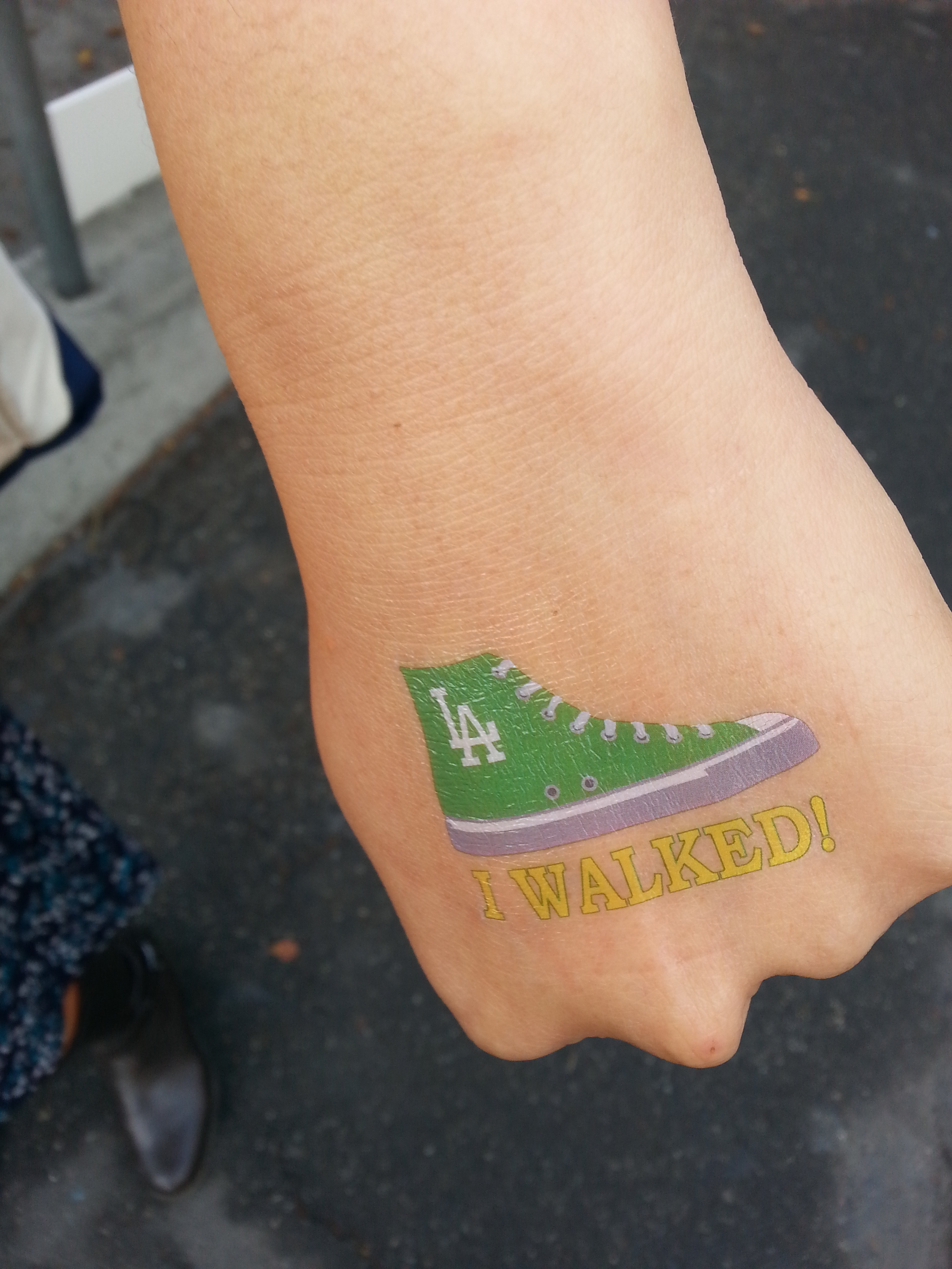 Badge of honor! Photo: Anna Chen/Metro