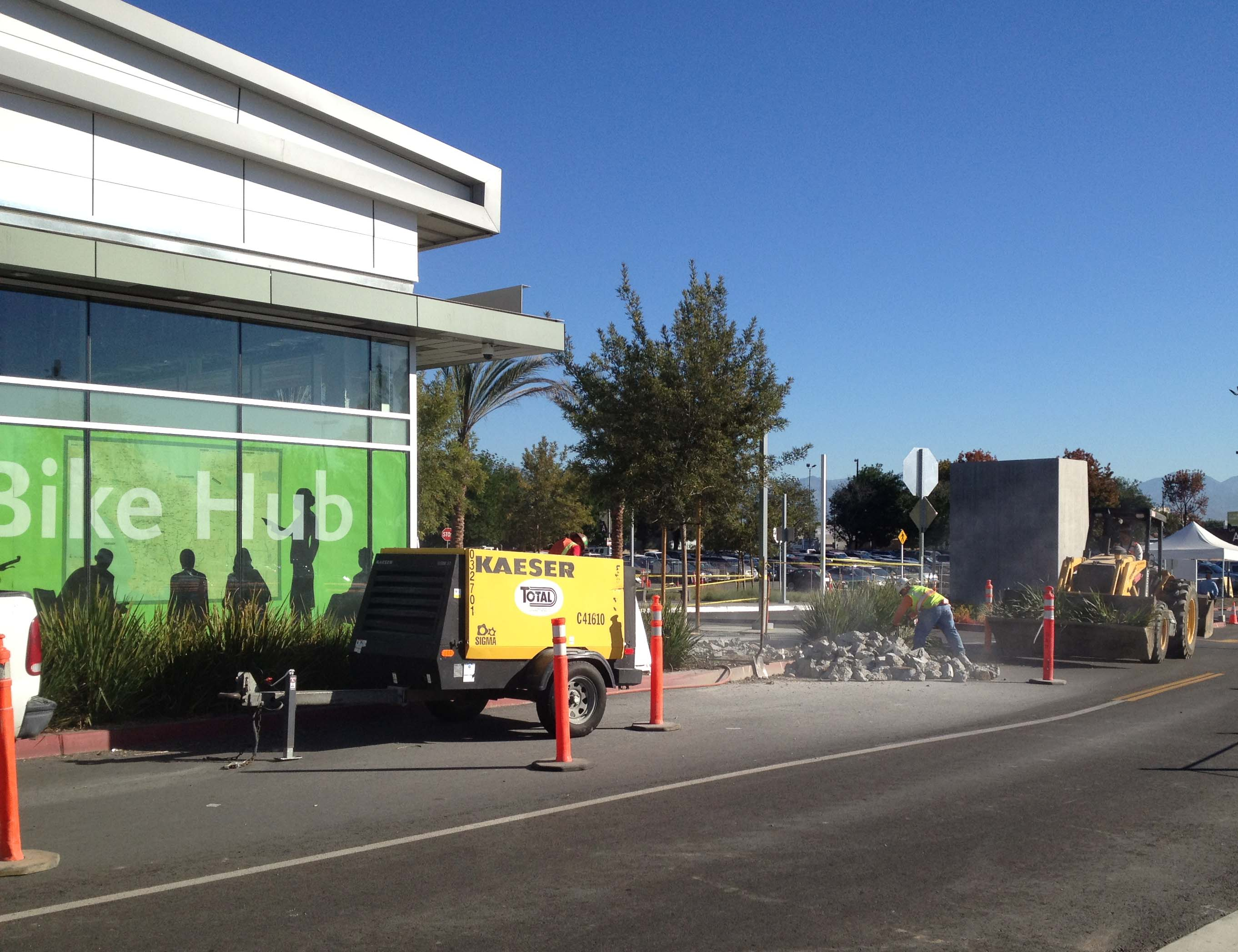 Recent work taking place at the El Monte Station. Photo by Metro.
