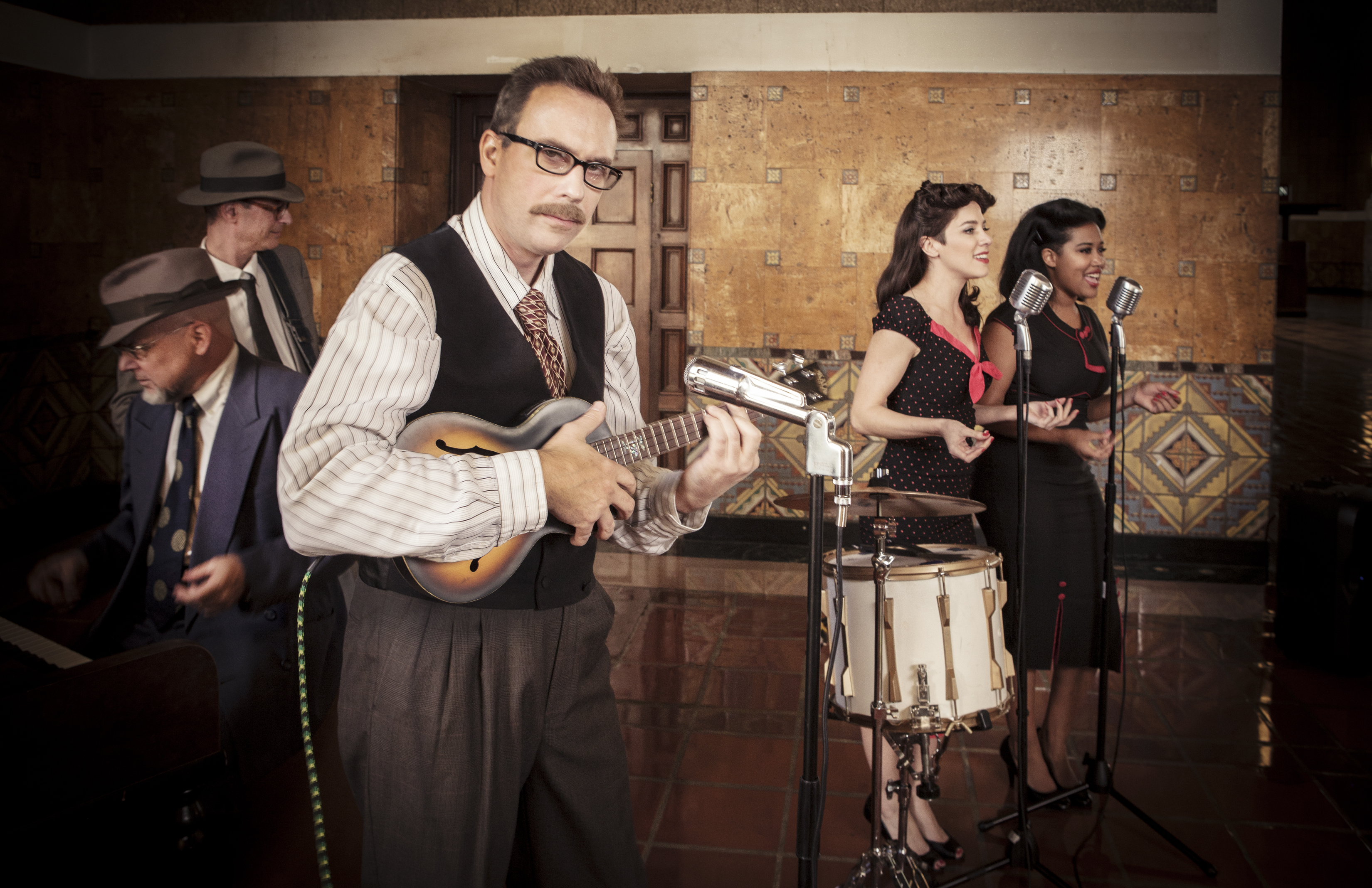 A blast to the past at Union Station: WWII-era swing music. Photo courtesy of Dr. Pinch and the Pinchtones.