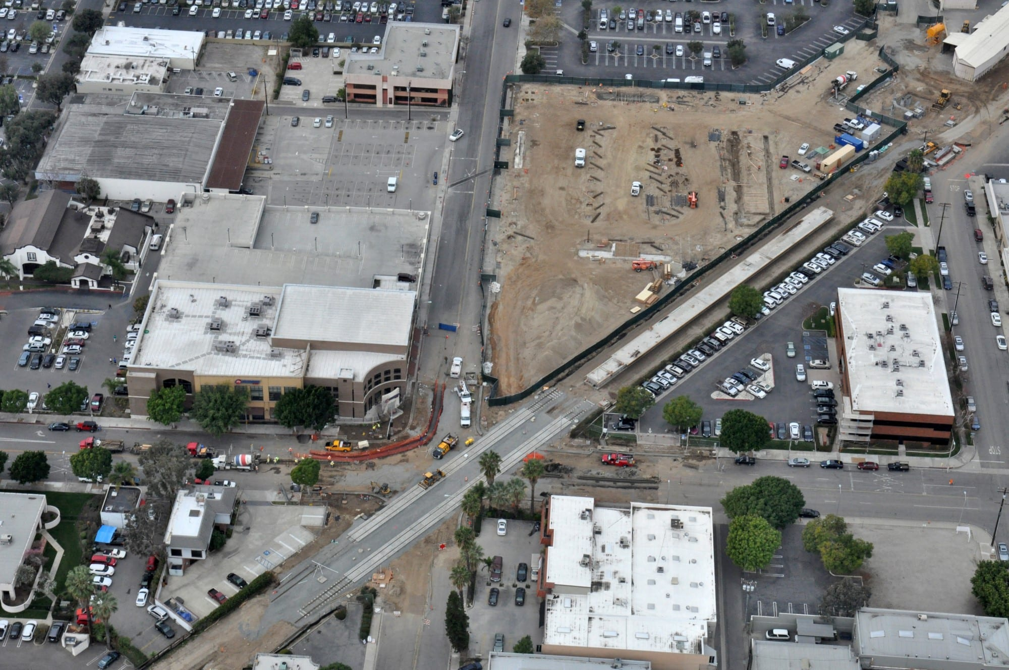 Arcadia_Station,_Parking_and_Transit_Plaza_-_aerial