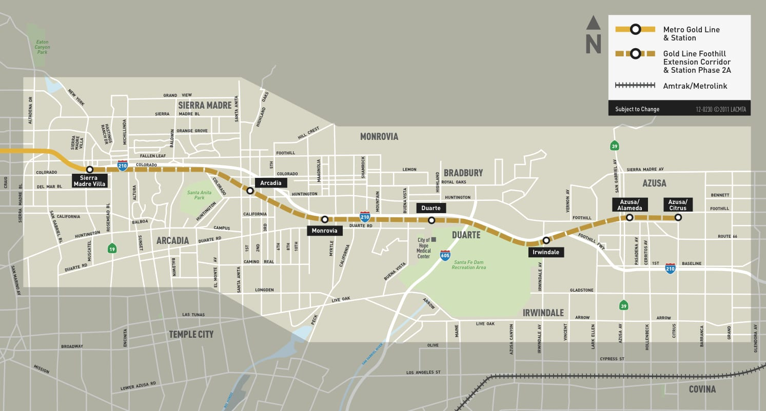 Foothill_Ext_Map