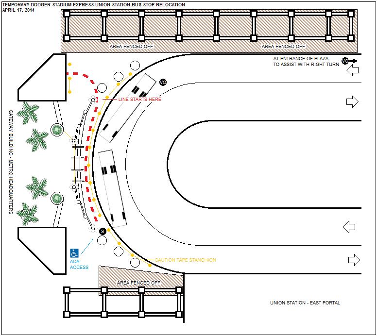 Temporary Bus Stop Diagram
