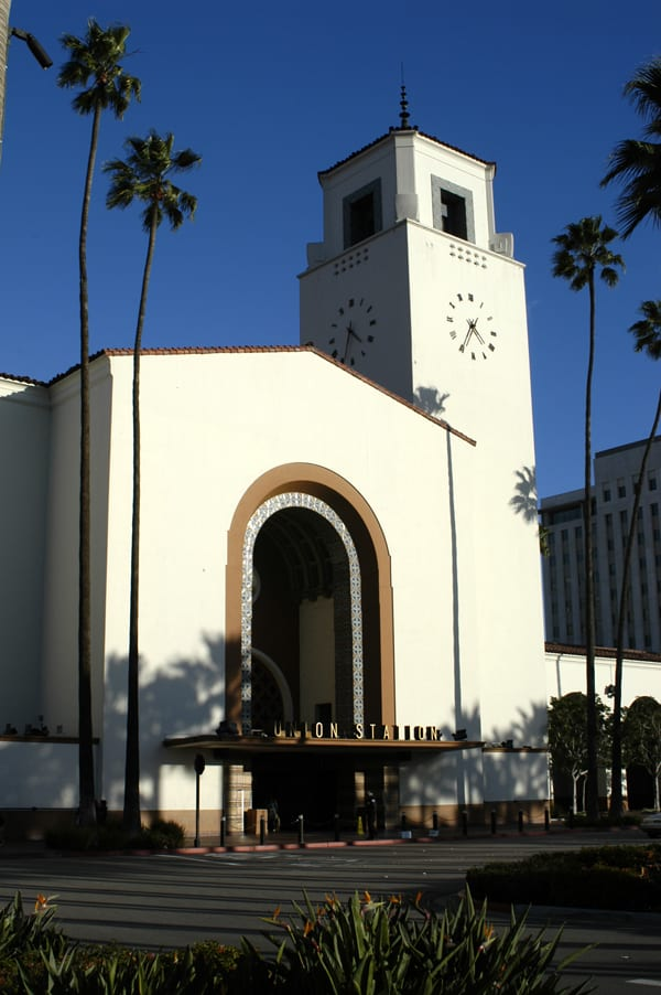 Union Station's iconic façade facing Alameda Street