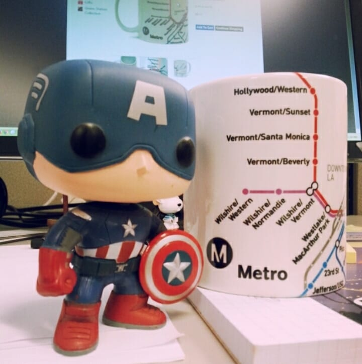 """I'm Captain America and I only drink from my Go Metro mug."""