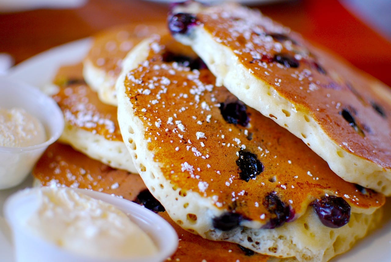 Delicious pancakes and more to be had at the LA Weekly Pancake Breakfast this Sunday--a short walk from Westlake/MacArthur Park Station. Image by Janine/Flickr CC