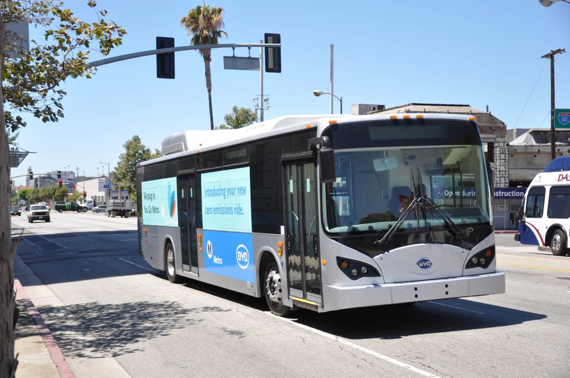 One of five new electric buses ordered by Metro and build by BYD will be on display at Altcar Expo. Photo Credit: BYD