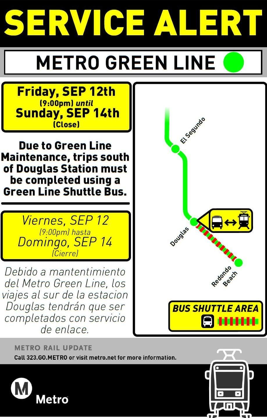 green line service advisory