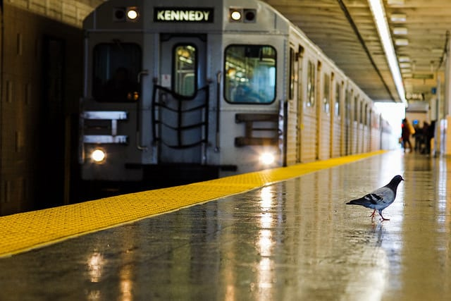 ART OF TRANSIT: A potential passenger? Taken in Toronto. Photo by Jamaal, via Flickr creative commons.
