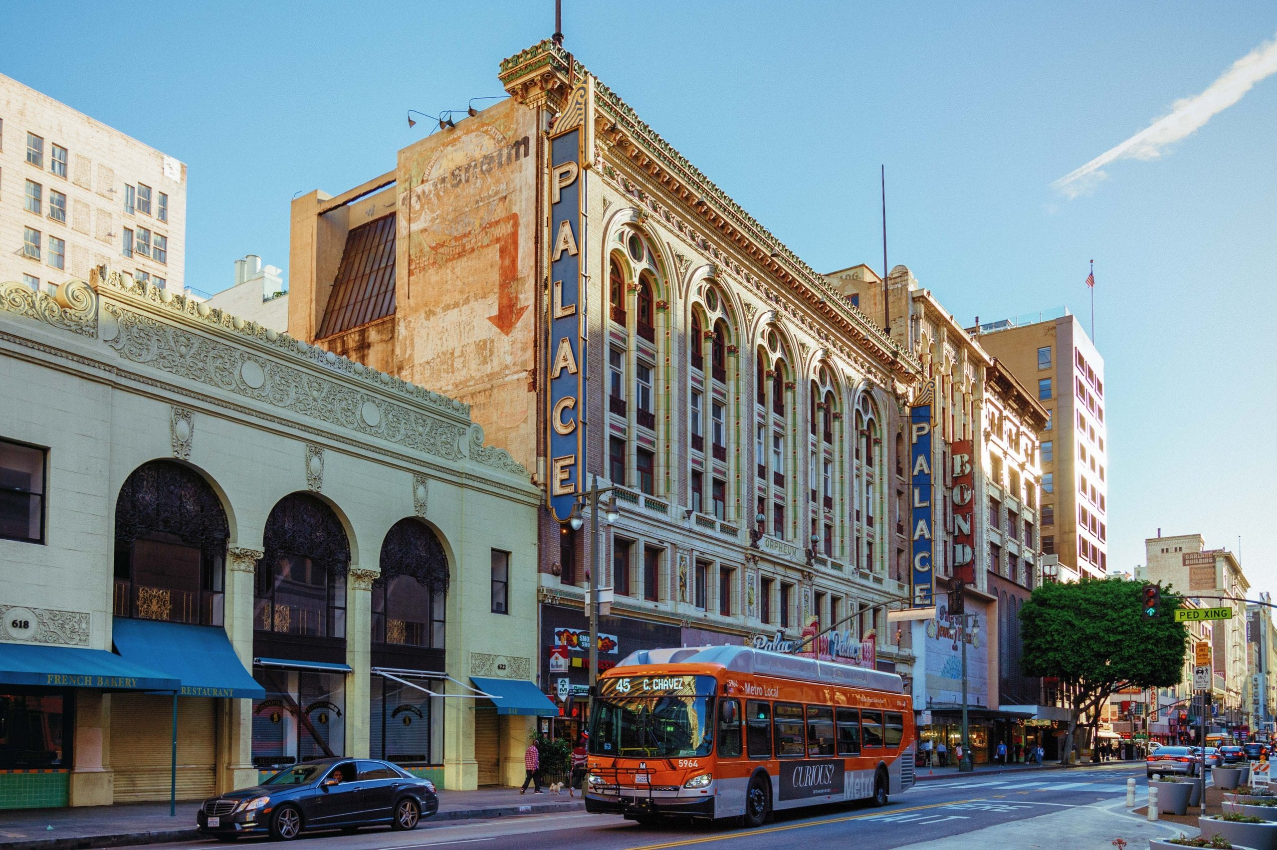 ART OF TRANSIT: Broadway in DTLA on a recent afternoon. Photo by Steve Hymon/Metro.