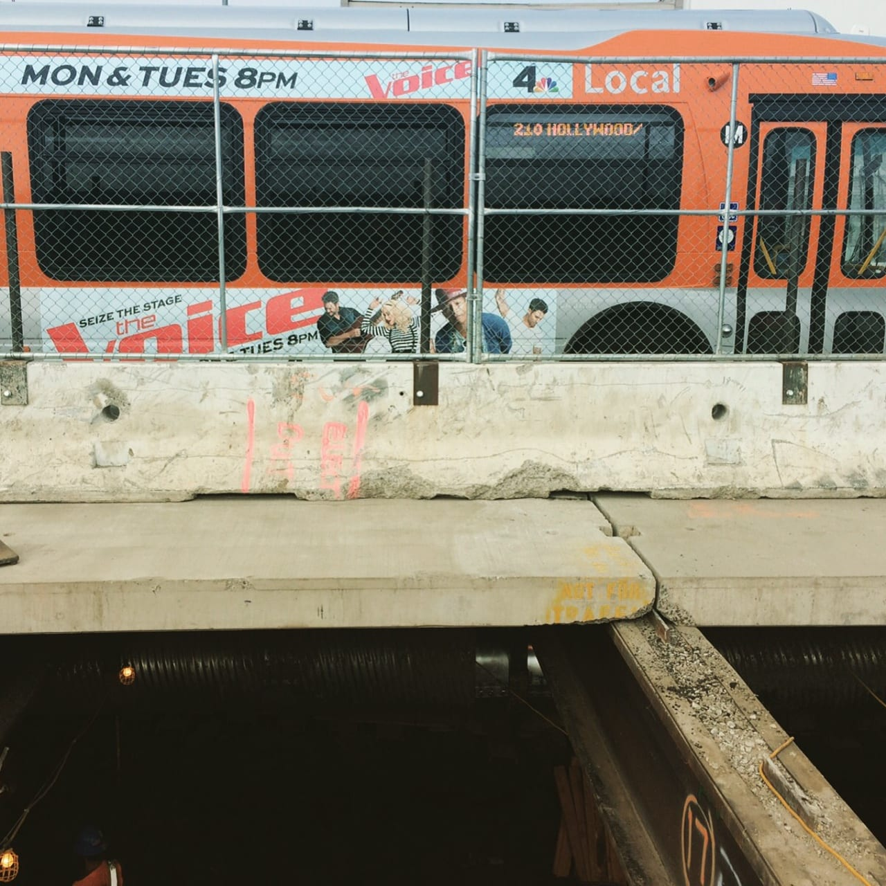 Work begins beneath Crenshaw Blvd. (Photo: Joseph Lemon/Metro)