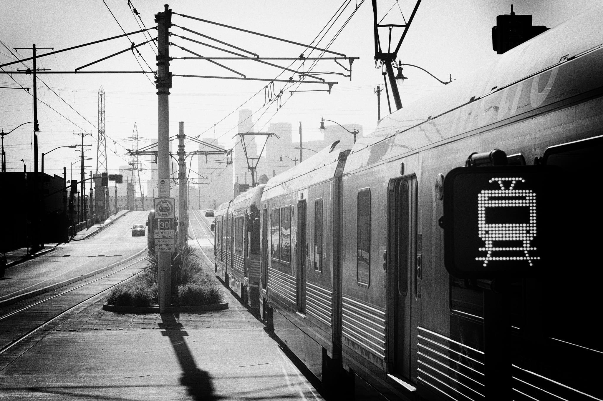 An Eastside Gold Line headed toward DTLA. Photo by Steve Hymon/Metro.