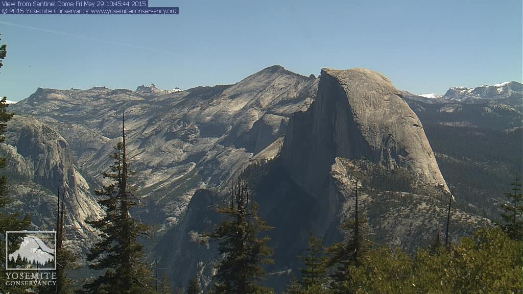 The view of Half Dome and the peaks south of Tenaya Canyon in Yosemite this morning. For those of you wondering...Photo: National Park Service.