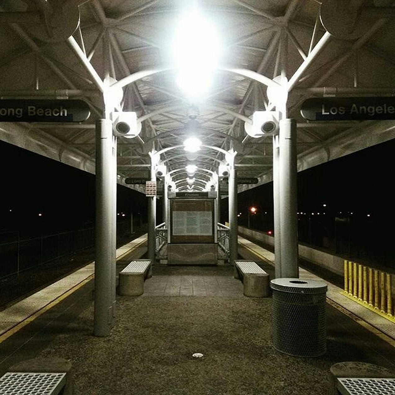 Upgraded Firestone Blue Line Station. Photo via Instagram @hour38