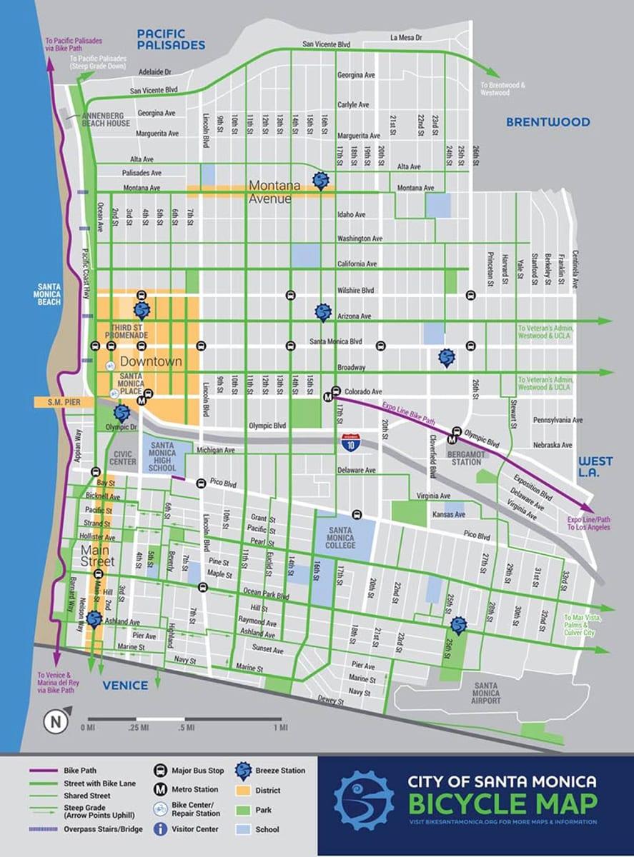 Map of hubs in pilot phase. (Map via Santa Monica Next)
