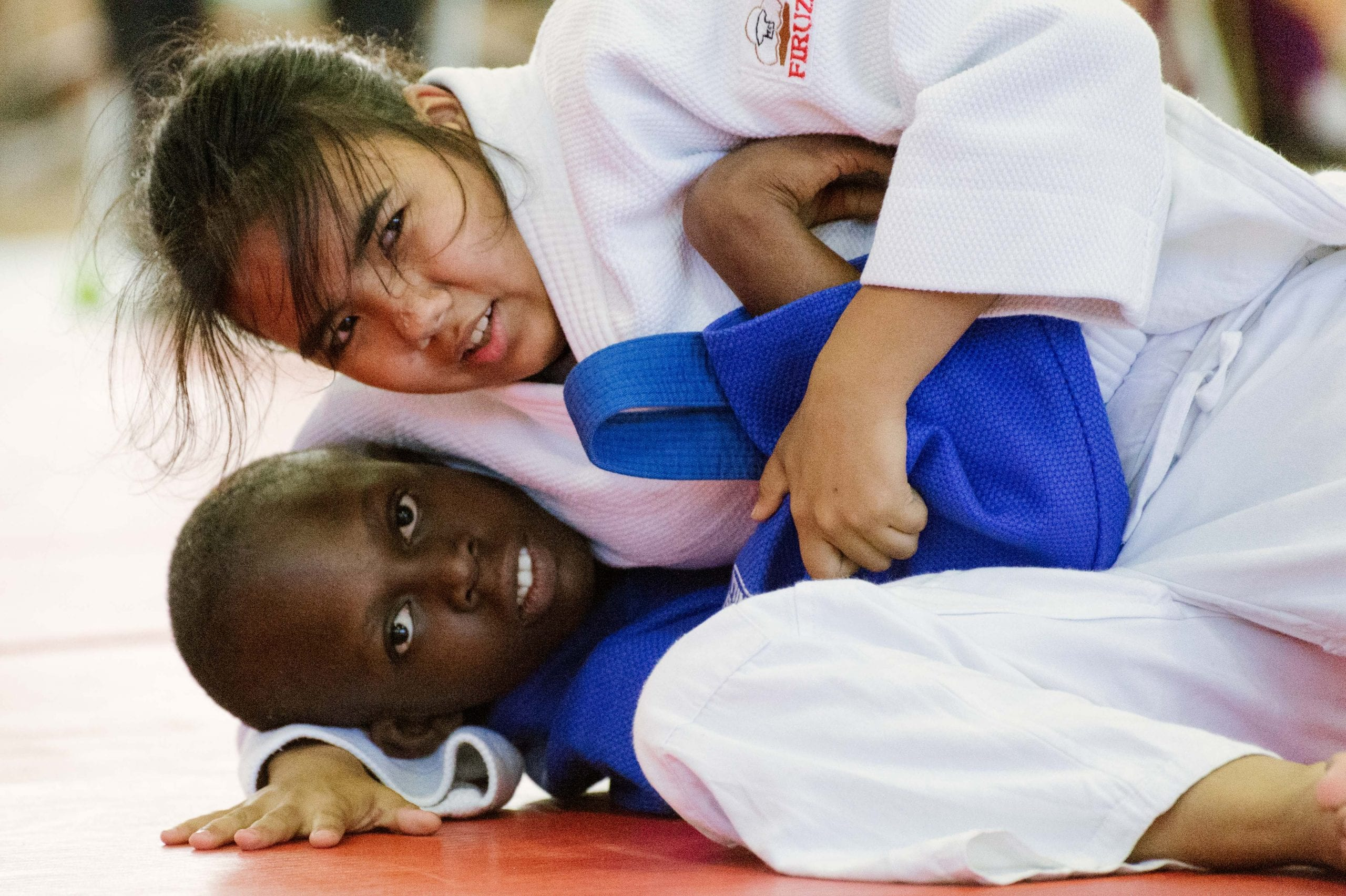The athletes had a chance to duke it out during the judo finals on Friday. Photo by Steve Hymon.