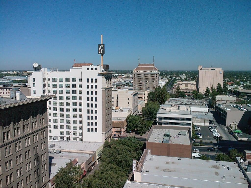 The Fresno skyline. Photo by Rich Johnstone, via Flickr creative commons.