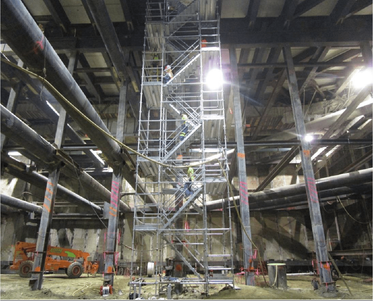 8.31.2015 EXPOSITION STATION – Stair tower in operation