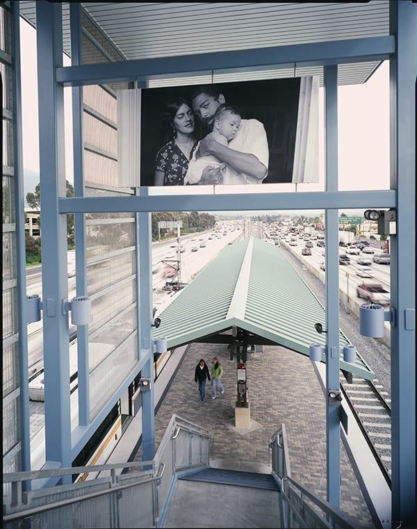 Tony Gleaton, Unitled - 2003 at the Sierra Madre Villa Station