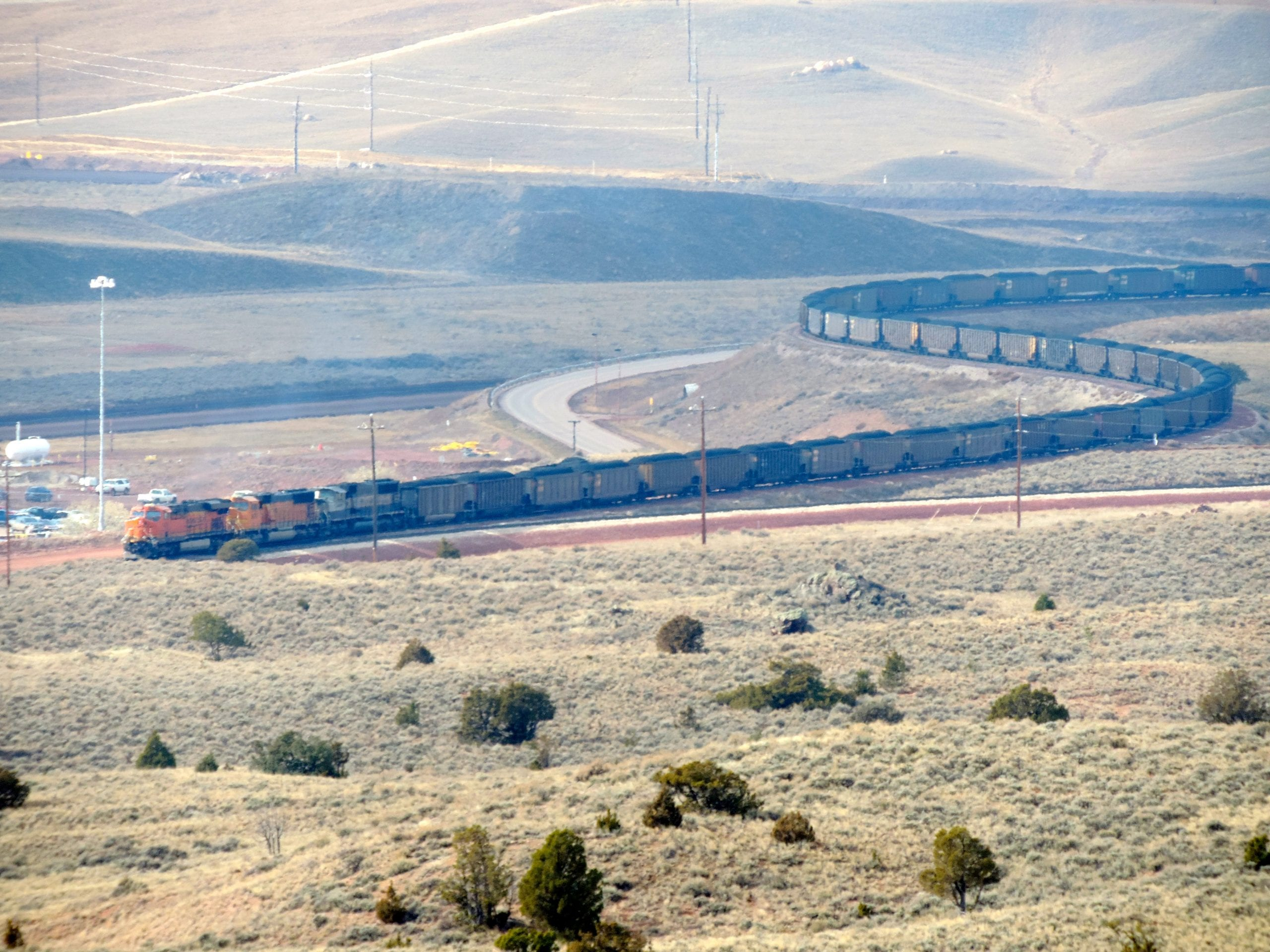 A coal train in southern Montana. Photo by WildEarth Guardians, via Flickr creative commons.