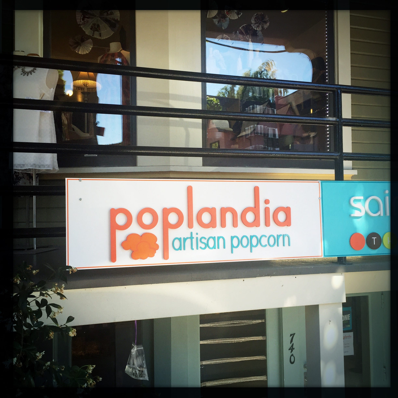 Hipster popcorn on Portland's trendy Northwest side. Photo: Steve Hymon.