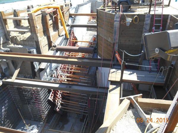 Metro Red Line/Orange Line underground passageway now under construction.