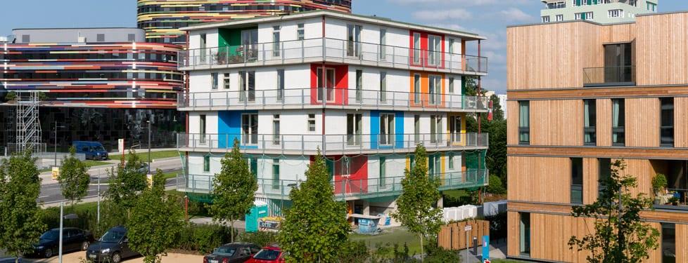 A building in Wilhemsburg. Photo: IBE.