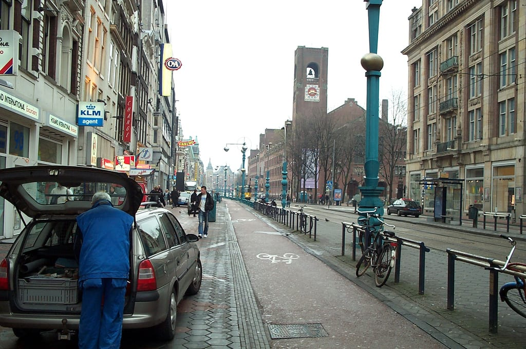 An Amsterdam street circa 2001. Photo by Jaren and Corin, via Flickr creative commons.