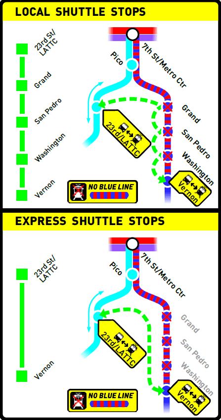 blue line shuttle