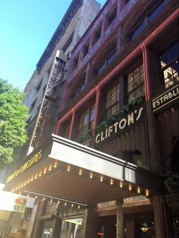 Participants meet here at the newly renovated Clifton's Cafeteria in DTLA at 9am.
