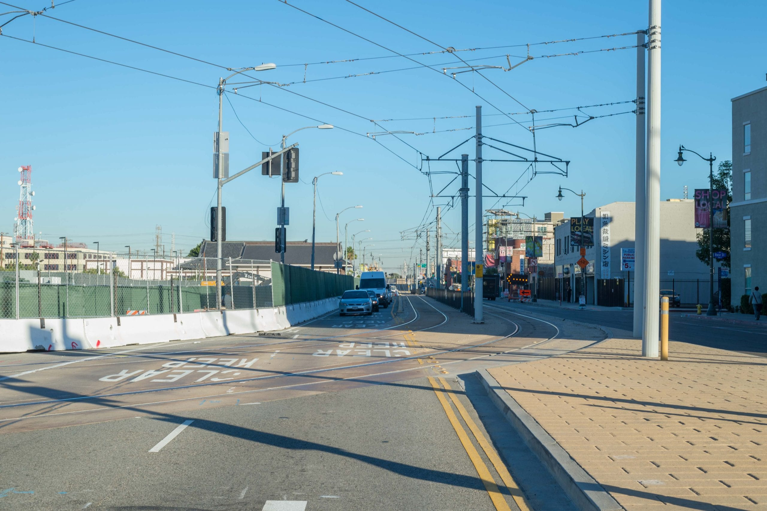 The closures are being done to move the existing tracks in the middle of 1st Street to the north side of the street (left in photo above) in order to build a new tunnel entrance in the middle of the street.