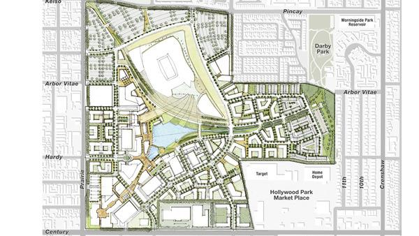 The site plan for the Inglewood stadium.