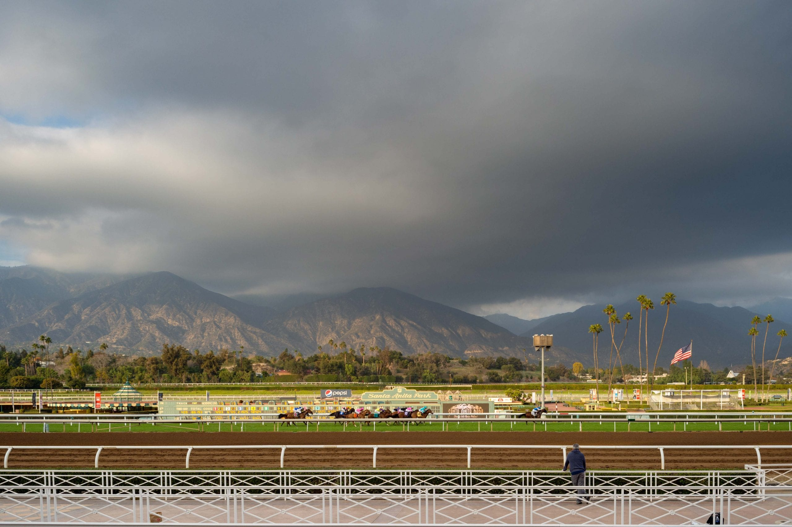 For those who like to play the ponies or attend other events at Santa Anita Park, a reminder that the new Gold Line Arcadia Station -- which opens March 5 -- is a short stroll from the track. Photo by Steve Hymon/Metro.